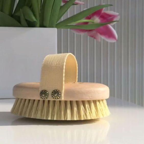 szczotka do masażu z naturalnego włosia